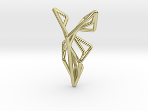 A-LINE Flying F.01 Pendant in 18k Gold Plated Brass