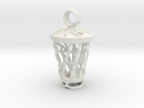 tritium: Witch Lantern vial pendant keyfob in White Natural Versatile Plastic
