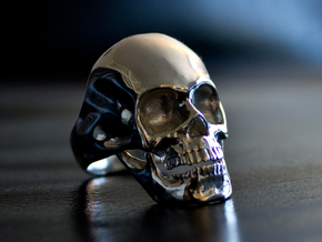 The Original Skull Ring in Polished Silver