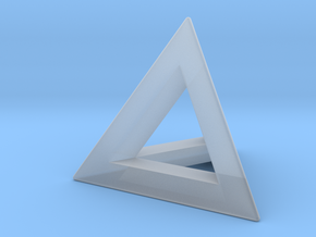 Tetrahedron 18mm in Smooth Fine Detail Plastic