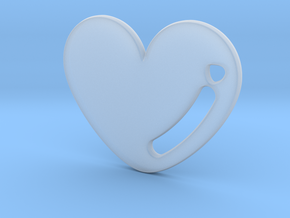 Love Heart Pendant in Smooth Fine Detail Plastic