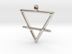 EARTH Alchemy Jewelry Symbol Pendant in Platinum