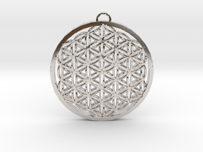 Flower of Life (Large) in Rhodium Plated Brass