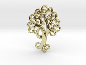 Life Tree Pendant in 18k Gold