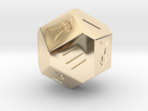 Liubo 14 Sided Dice in 14k Gold Plated