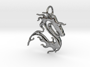 sea horse in Fine Detail Polished Silver