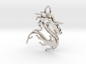 sea horse in Rhodium Plated Brass