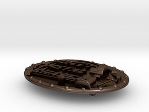 Buckle Part2 in Polished Bronze Steel