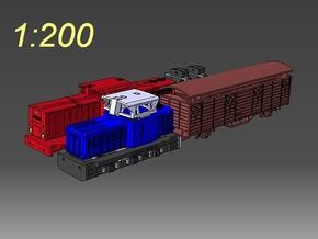1:200 Fahrzeuge der DR im Maßstab 1:200 in Frosted Ultra Detail