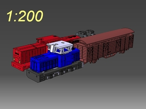 1:200 Fahrzeuge der DR im Maßstab 1:200 in Smooth Fine Detail Plastic