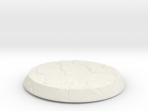 Stone Circular Base in White Natural Versatile Plastic