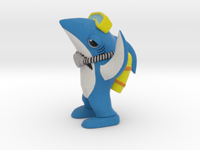 Scuba Left Shark in Full Color Sandstone