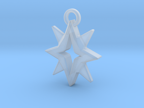 Starbright Pendant in Smooth Fine Detail Plastic