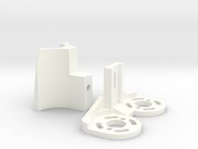 Fletcher Motor Mount (2 pieces) in White Strong & Flexible Polished