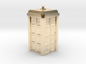Dr. Who Tardis in 14k Gold Plated Brass