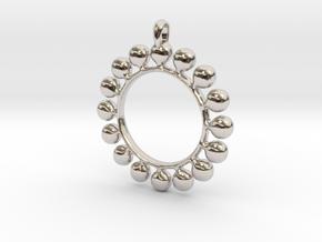 GOLD Alcemy Symbol Jewelry Pendant in Platinum