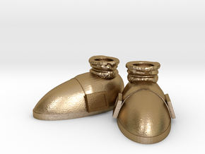 Sonic's Shoes in Polished Gold Steel