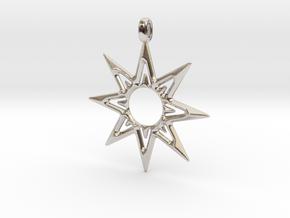 STAR OF VENUS Jewelry Symbol Pendant. in Platinum