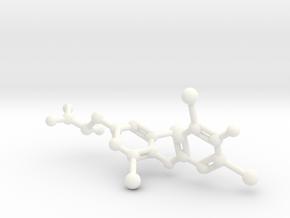 Levothyroxine (L-thyroxine, T4) Molecule in White Processed Versatile Plastic