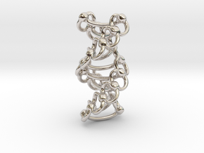 DNA Helixa - 25mm in Rhodium Plated Brass