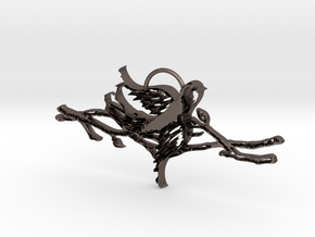 Branching Out in Polished Bronzed Silver Steel