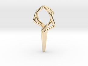 Dancing 101, Pendant in 14k Gold Plated Brass