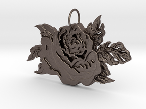 A Rose By Any Other Name in Polished Bronzed Silver Steel