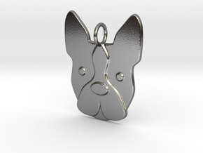 Boston Terrier Charm in Polished Silver