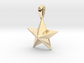 Star Pendant Necklace in 14K Yellow Gold
