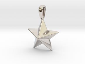Star Pendant Necklace in Platinum