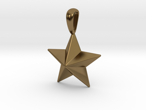 Star Pendant Necklace in Polished Bronze