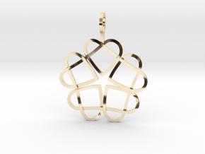 CODE SL04Z4R2 - PENDANT in 14k Gold Plated Brass