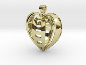 Heart pendant v.2 in 18k Gold Plated Brass