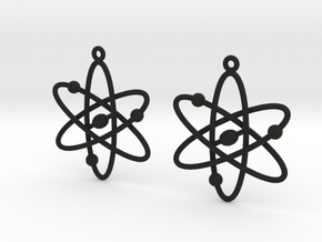 Atom Earring Set in Black Natural Versatile Plastic