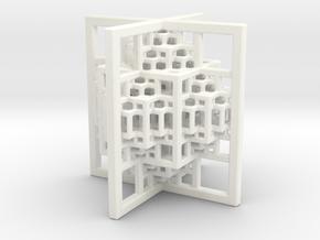 Beamed CuboOctahedron Mini in White Processed Versatile Plastic