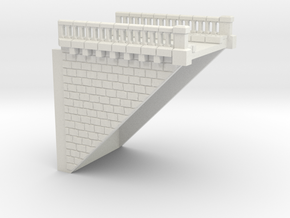 ZV1M3 Modular viaduct 1 track in White Natural Versatile Plastic