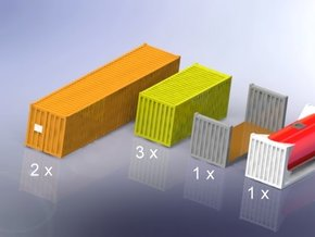 Container Mixed Set 1/350 in Smooth Fine Detail Plastic