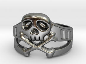 Space Captain Harlock | Ring size 10 in Fine Detail Polished Silver: 10 / 61.5