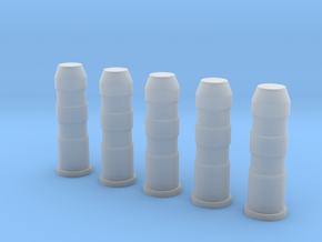 Plastic Road Bollards (5 pcs.) in 1:35 scale in Smoothest Fine Detail Plastic
