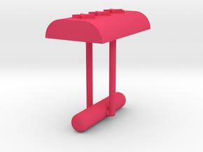 Cufflink Stars in Pink Processed Versatile Plastic