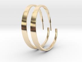EarRing2x in 14K Yellow Gold