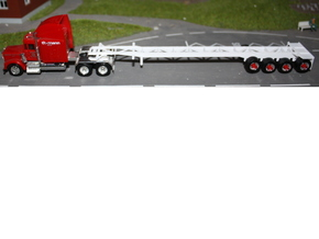 000054 Container Trailer USA HO in White Natural Versatile Plastic
