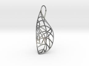 Open leaf pendant in Premium Silver