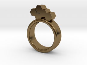 Honeycomb Ring in Polished Bronze