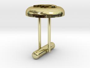 Cufflink Euro in 18k Gold Plated Brass