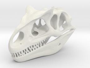 Allosaurus Skull in White Natural Versatile Plastic