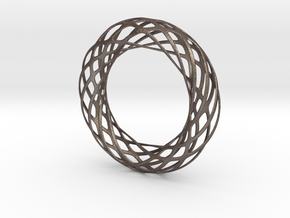 Voronoi Bracelet 2 in Polished Bronzed Silver Steel