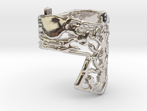 Ring Croos in Rhodium Plated Brass