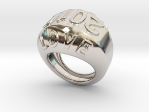 2016 Ring Of Peace 17 - Italian Size 17 in Rhodium Plated Brass