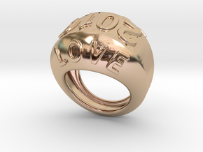 2016 Ring Of Peace 19 - Italian Size 19 in 14k Rose Gold Plated Brass